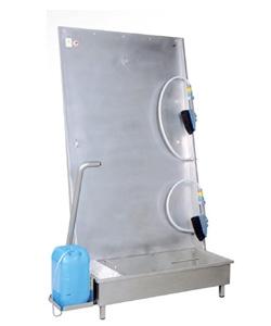 Priekšautu mazgāšanas iekārtas